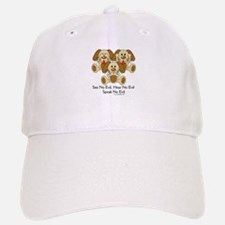 No Evil Puppies Baseball Baseball Cap