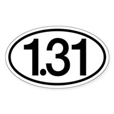 1.31 Half Marathon Humor Decal