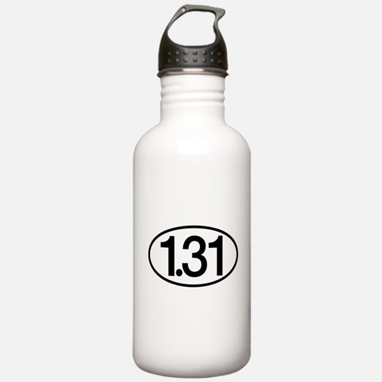 1.31 Half Marathon Humor Water Bottle