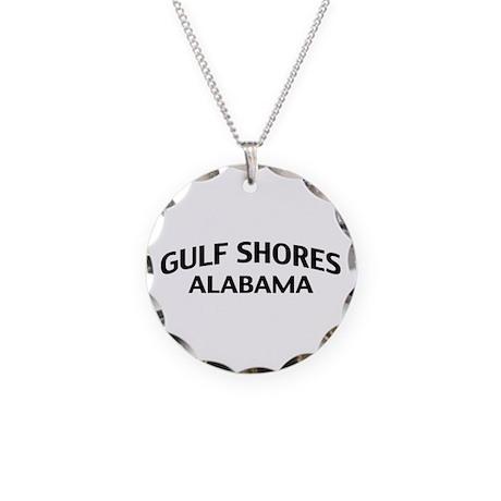 Gulf Shores Alabama Necklace Circle Charm