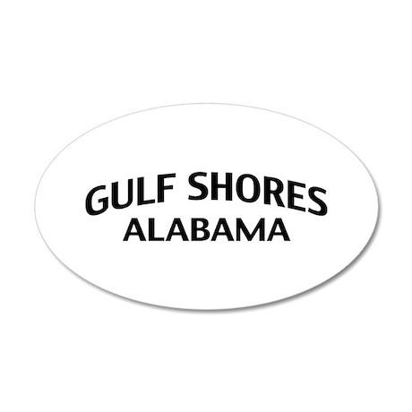 Gulf Shores Alabama 22x14 Oval Wall Peel