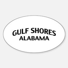 Gulf Shores Alabama Sticker (Oval)