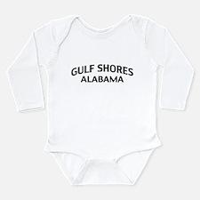 Gulf Shores Alabama Long Sleeve Infant Bodysuit