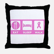 Eat Sleep Walk Throw Pillow