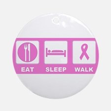 Eat Sleep Walk Ornament (Round)