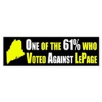 One of the 61% Against LePage bumper sticker