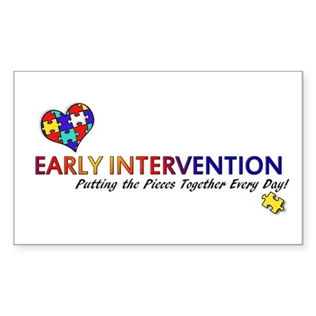 Early Intervention (Autism) Sticker (Rectangle)