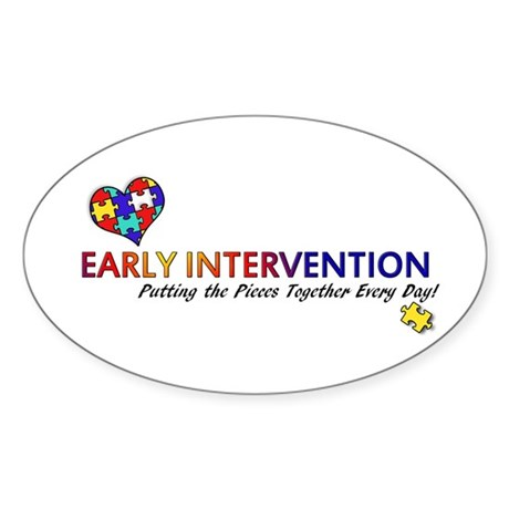 Early Intervention (Autism) Sticker (Oval)