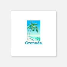 Grenada Rectangle Sticker