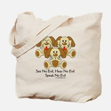 No Evil Puppies Tote Bag