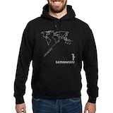 Geocode kathmandu Dark Hoodies