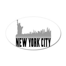 New York City 38.5 x 24.5 Oval Wall Peel