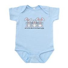 No Evil Bunnies Infant Bodysuit