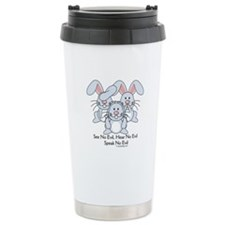 No Evil Bunnies Travel Mug