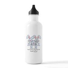 No Evil Bunnies Water Bottle