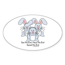 No Evil Bunnies Decal