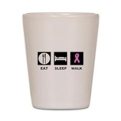 Eat Sleep Walk Shot Glass
