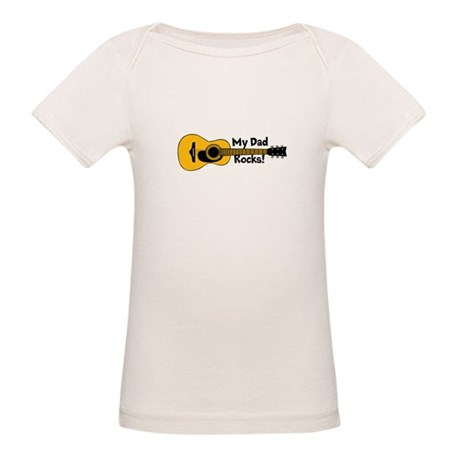 My Dad Rocks! Organic Baby T-Shirt