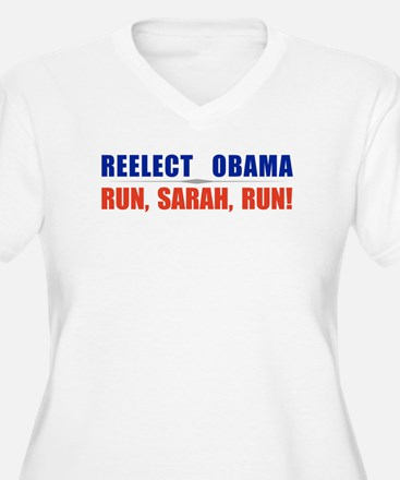 Reelect Obama. Run,Sarah,Run T-Shirt