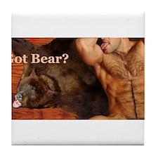 Got Bear? AriesArtist.com Tile Coaster