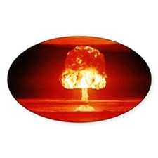 Romeo Nuclear Test Oval Decal