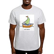 sail away Ash Grey T-Shirt