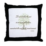 Buddha- Present Moment Throw Pillow