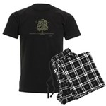 Buddha- Present Moment Men's Dark Pajamas