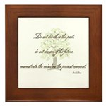 Buddha- Present Moment Framed Tile
