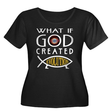 God Created Evolution Women's Plus Size Scoop Neck