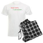 Dear Santa I Can Explain Men's Light Pajamas