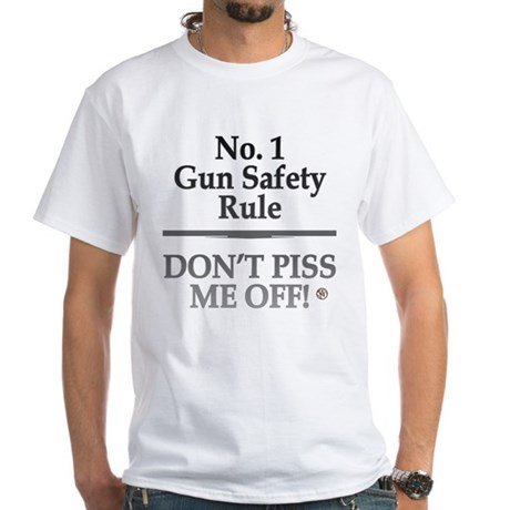 """Gun Safety"" White T-Shirt"