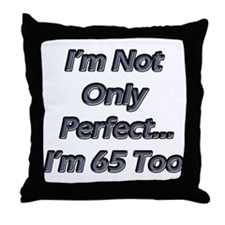 Cute 65 years old Throw Pillow