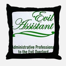 Evil Assistant Throw Pillow