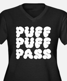Puff Puff Pass - Cloudy Women's Plus Size V-Neck D