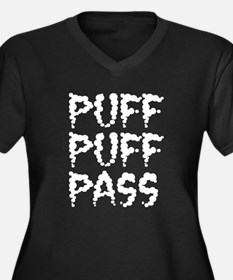 Puff Puff Pass - Smog Women's Plus Size V-Neck Dar