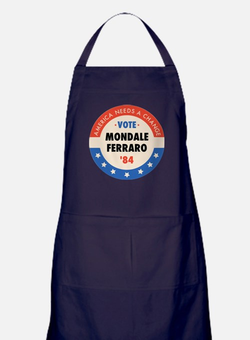 Vote Mondale '84 Apron (dark)