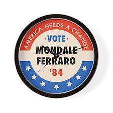 Vote Mondale '84 Wall Clock