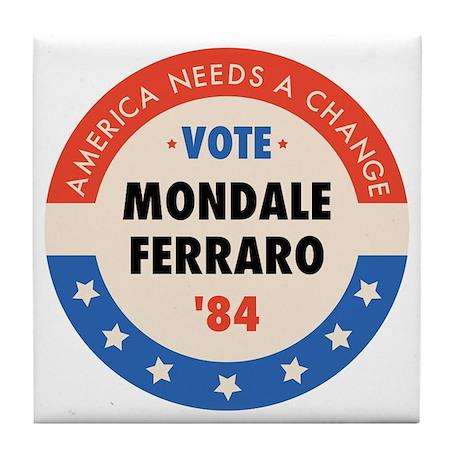 Vote Mondale '84 Tile Coaster