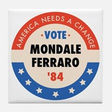 Vote Mondale '84 Tile Coaster