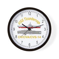 USS Ticonderoga CV-14 Wall Clock
