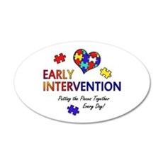 Early Intervention (Autism) 22x14 Oval Wall Peel