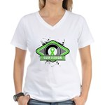 Non-Hodgkin's Lymphoma Women's V-Neck T-Shirt