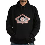 Uterine Cancer Survivor Hoodie (dark)
