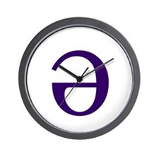 Unique Schwa Wall Clock