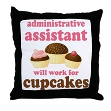 Funny Administrative Assistant Throw Pillow