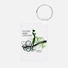 Midwife Aluminum Photo Keychain