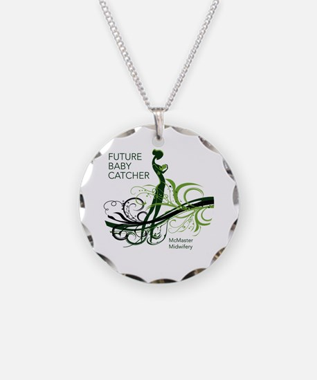 Funny Midwife Necklace Circle Charm