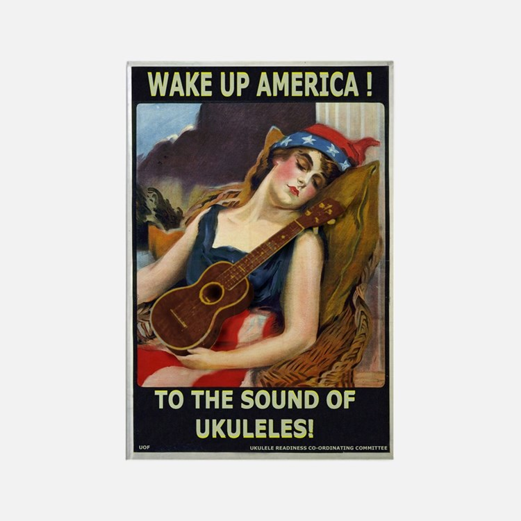 Wake Up America! Rectangle Magnet