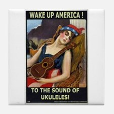Wake Up America! Tile Coaster